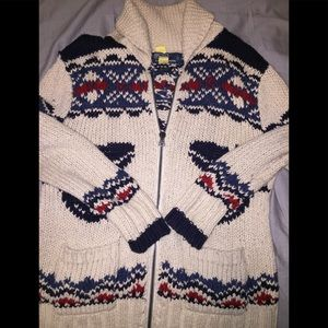 Zip up polo sweater sailor